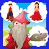 Un Gioco Bambini: Trova Gli Errori Nella Principessa Fairy Tale Terra