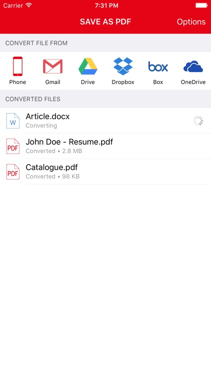 Save as PDF - from Anywhere - Convert Text, Word, Excel ...