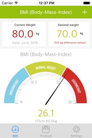 Weight Loss Tracker, BMI screenshot 2