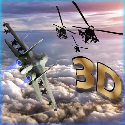 F16 هجوم طائرات هليكوبتر - قصف القوة الجوية للعدو مع طائرة مقاتلة