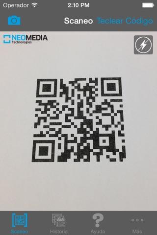 NeoReader®-QR&BarcodeScanner screenshot 1