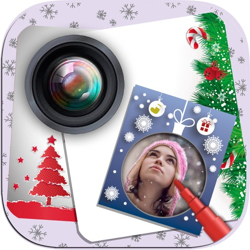 Christmas Photo Frame Maker – New Year greetings iOS App