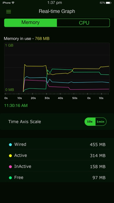 Screenshot #8 for System Activity Monitor - Battery, Free Memory