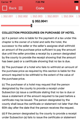 Texas Tax Code 2017 screenshot 2