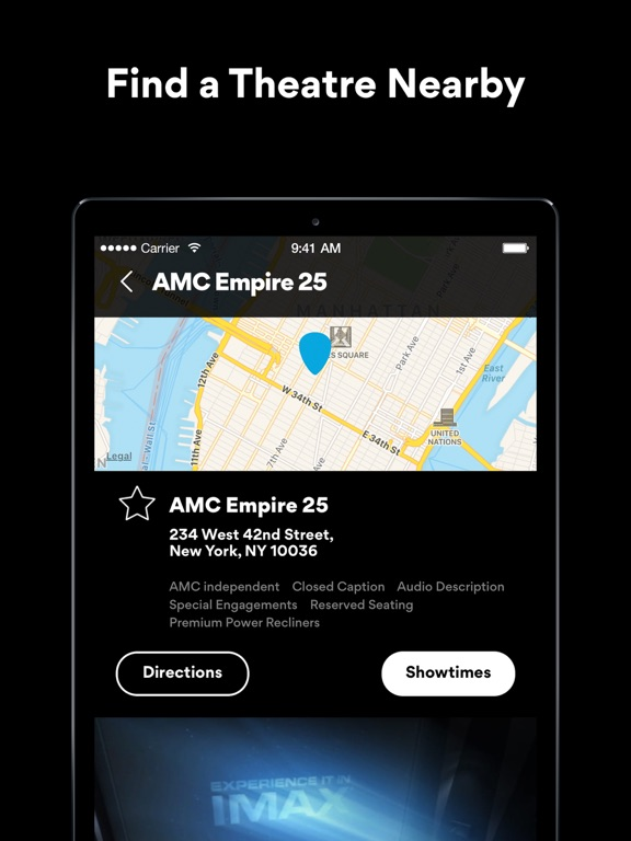 AMC Theatres On The App Store - Map of movie theaters us
