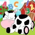 Farm Animals Niño Preescolar - Todo en 1 Educativos Rompecabezas Juegos para Niños