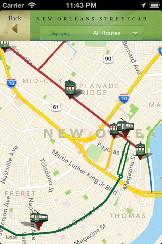 French Quarter, Garden District Historic Tours and New Orleans Streetcar Tracker screenshot 2