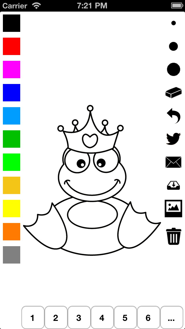Libro para colorear la princesa para niñas: castillo, rana ...