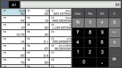 Screenshot of Calculator SpreadSheet Lite3
