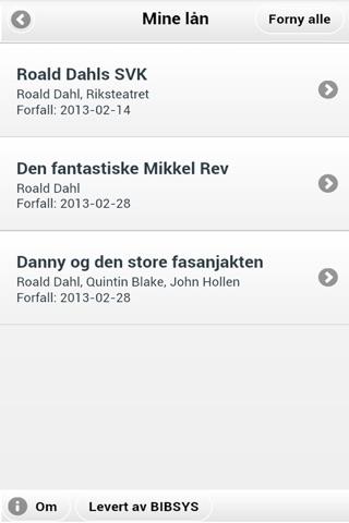 BIBSYS MinSide screenshot 3