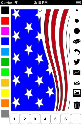 Independence Day Coloring Book for Children: Learn to draw and color icons of the United States of America screenshot 1