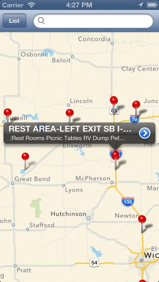 Rest Area Locator For US Highway Lite On The App Store - Map of us rest stops