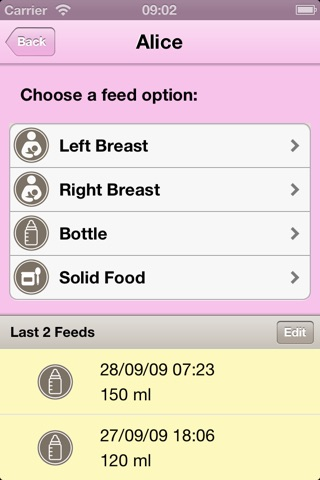 iBabyControl screenshot 2