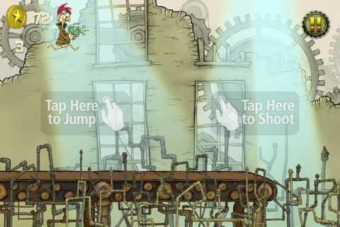 Steampunk Chicken - Free iPhone/iPad Racing Edition screenshot 3