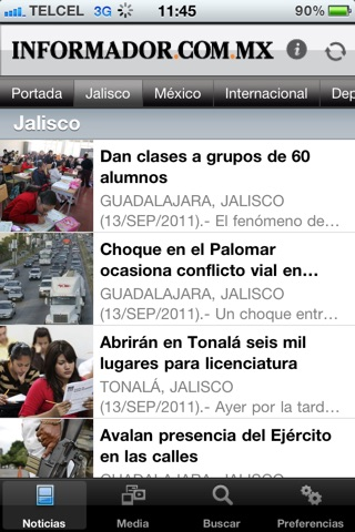 El Informador screenshot 1