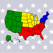 50 US States Map, Capital Cities and Flags of the United States of America (USA) - American Quiz