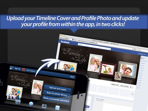 Screenshot #5 for Photo Covers for Facebook LITE: Timeline Editor