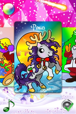 Christmas Coloring Pages for Girls & Boys with Santa & New Year Nick - Pony Painting Sheets & Fashion Papa Noel Games for my Little Kids, Babies & jr Brats screenshot 2