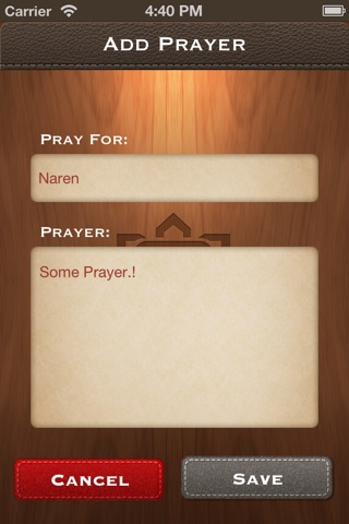 PrayerTracker screenshot 2