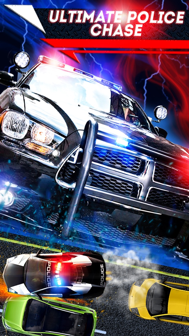... Screenshot #4 For 2D Fast Police Car Chase Game   Free Real Speed  Driving Racing ...
