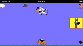 Screenshot von Kopf schütteln,Fliegende Kuh2