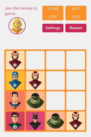 Super Heroes 2048 screenshot 2
