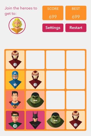 Super Heroes 2048 screenshot 2