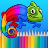 Cute Animals Coloring Book - Painting and Learning Games For Kids & Toddlers