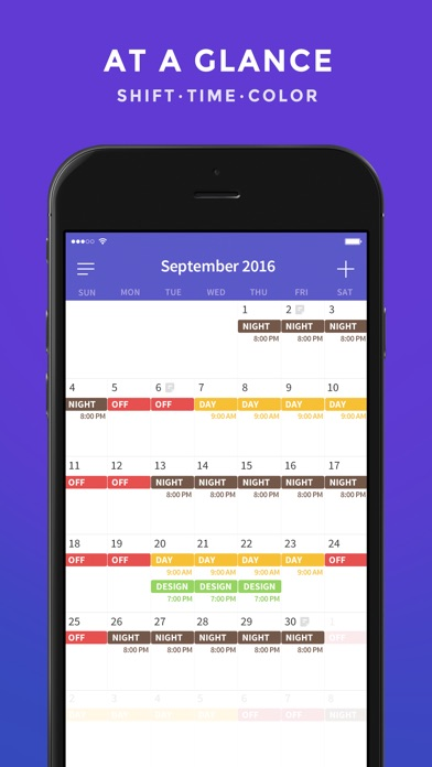 Shift Work Days - Calendar Planning for Shift Worker on the App Store