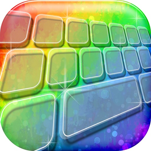 Rainbow Keyboard! - Custom Color Keyboard Themes 2016 with Fancy Backgrounds and Fonts Changer iOS App