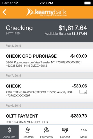 Kearny Bank screenshot 4