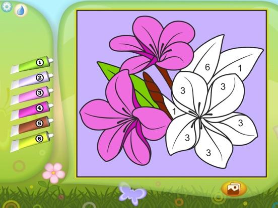 Игра Раскрась по номерам - Цветы