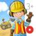 Meine Bauarbeiter: Bagger, Kran und Kipplaster App für Kinder!