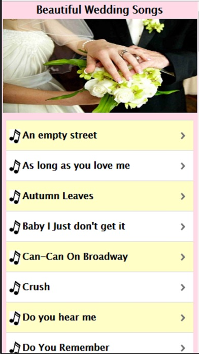 Beautiful Wedding Songs On The App Store
