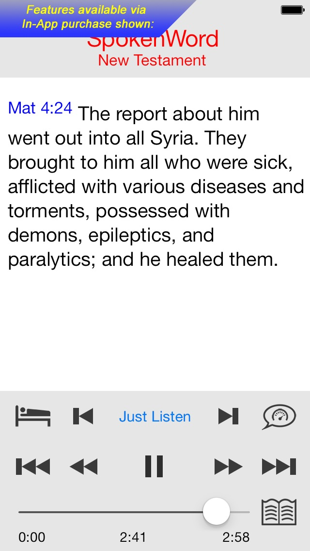 Spokenword Audio Bible review screenshots