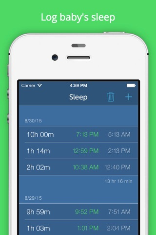 Baby Feeding Log - Newborn Breastfeeding, Bottle and Nursing Tracker with Timer screenshot 3