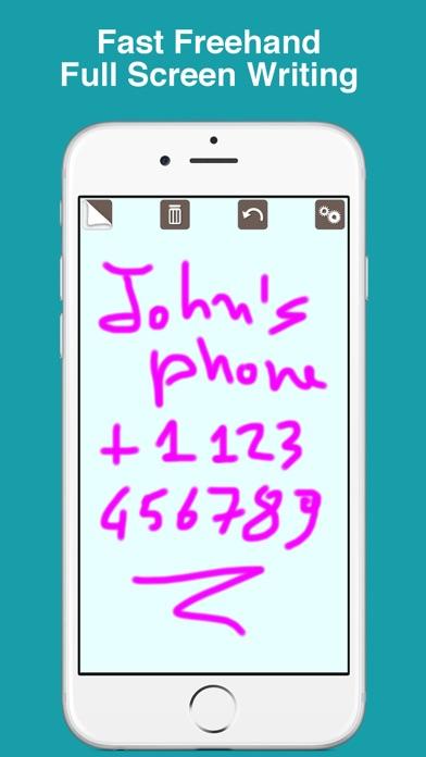 Screenshot of PocketJot - freehand notepad2