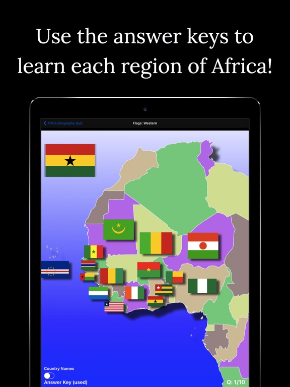 Africa geography quiz on the app store ipad screenshot 3 sciox Images