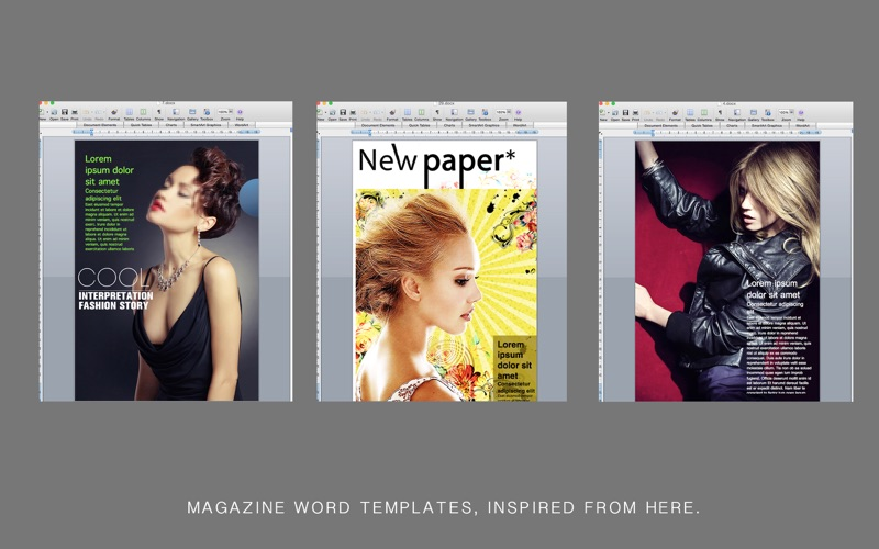 magazine templates for word