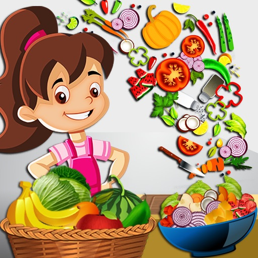 Fresh Salad Bar : Healthy Green Food making game for education & learning iOS App