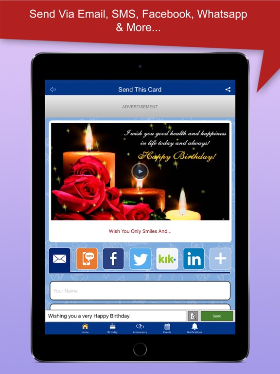 Greeting Cards and Wishes on the App Store – Birthday Cards for Ipad