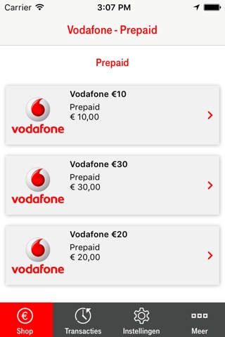 Vodafone - Prepaid screenshot 1