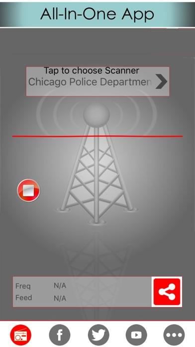 Screenshot of La polizia vivono scanner radio - Il miglior scanner polizia RSS da su stazioni radio di linea3