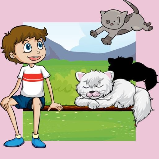 Animaux Enfants Jeux: Bébé Chats, Kitty App Pour de Jeunes Enfants: Coloration Livres & Puzzle