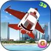 Futuristic F16 Flying Car Free Simulator – Jet fighter Car Air Stunts