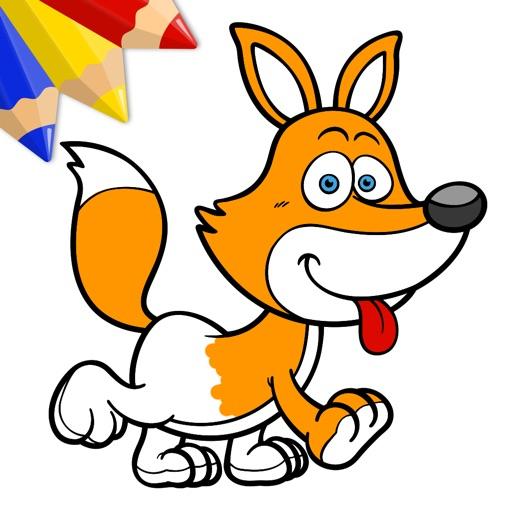 Animales divertidos - Libro virtual para colorear para niños y niñas ...