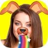 照片脸型效果捕捉照片编辑器与贴纸搞笑自拍表情符号