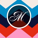 Monogram.s Wallpaper.s Maker.s It Lite - Free Chevron & Initial.s Background.s Creator with Custom Glitter Themes! icon