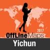 Yichun 離線地圖和旅行指南