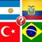 World Banner Trivia - Sovereign Nation Flags from Countries around the Globe